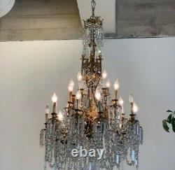 Antique Crystal cathedral gothic Chandelier