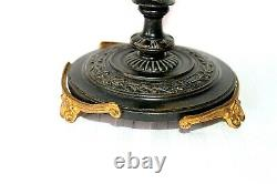 Antique French Baccarat crystal Belle Epoque bronze and ormolu epergne c 1880
