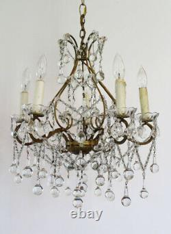 Antique Italian Large Beaded Drops Chandelier Simply Gorgeous