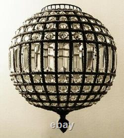 Crystal Bronze Chandelier Pendant Lamp 12 in Ball from Restoration Hardware