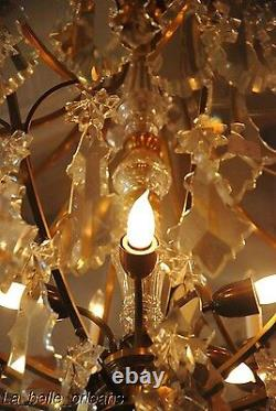 French Crystal Chandelier 15 Lights. 5 Ft Tall, Must See