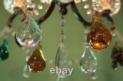 French bronze crystal chandelier