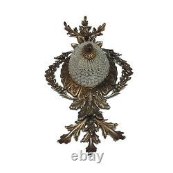 Hand Beaded Antique Replica Crystal Chains French Empire Flush Mount Chandeliers