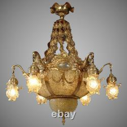Louis XVI Chandelier- Crystal and Gilded bronze