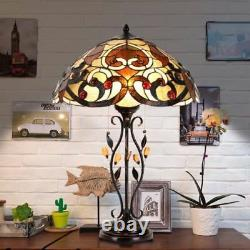 Tiffany Style Lamp Swirling Shells Table Desk Lamp Baroque Stained Glass Decor