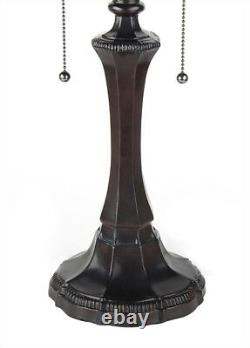 Tiffany Style Victorian Cabochon Table Lamp 16 Shade Stained Glass 22 Tall