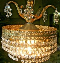 VINTAGE CHANDELIER 3 TIERED, WATERFALL STYLE 40s 50s NOT A REPRODUCTION 10.5'