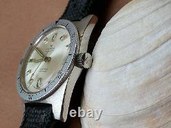 Vintage Pierce Diver withWarm Patina, Signed Crown, All SS Case, Tropic Band, ETA 2472
