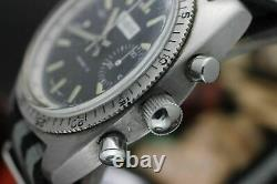 Vintage ZODIAC Diver Chronograph Valjoux 7733 Stainless Steel Diver's Watch